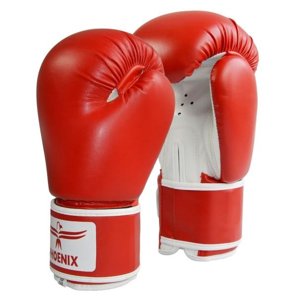 Boxhandschuhe Kunstleder rot-weiß, 8oz