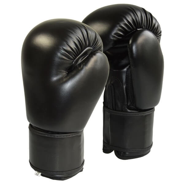 Boxhandschuhe Kunstleder schwarz 8 oz