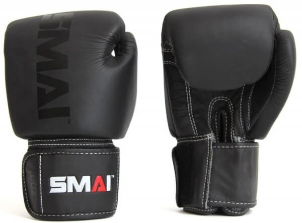 SMAI Elite P85 Boxhandschuhe, Leder, schwarz