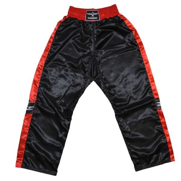PHOENIX Kickboxhose TOPFIGHT, schwarz-rot, 120