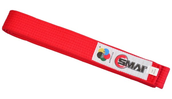 SMAI WKF Wettkampfgürtel rot, 240cm
