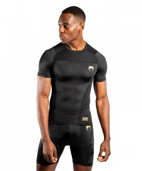 VENUM G-Fit Rashguard Short Sleeves- schwarz/gold
