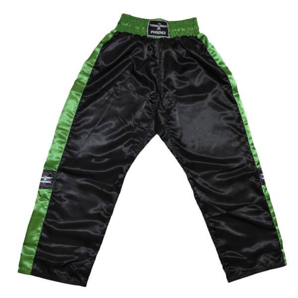 PHOENIX Kickboxhose TOPFIGHT, schwarz-grün, 120