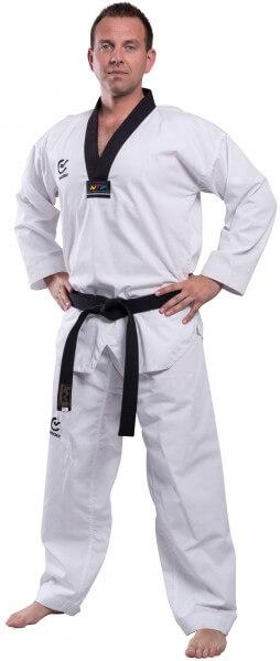 Taekwondo Anzug schwarzes Revers WACOKU Competition WTF