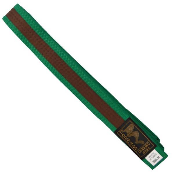 Budogürtel grün-braun, 260 cm