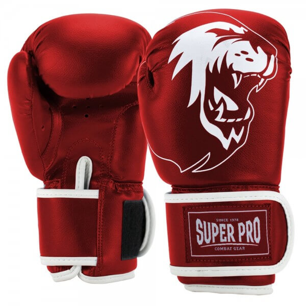 Super Pro Talent Kinder (Kick-)Boxhandschuhe red/white 4oz