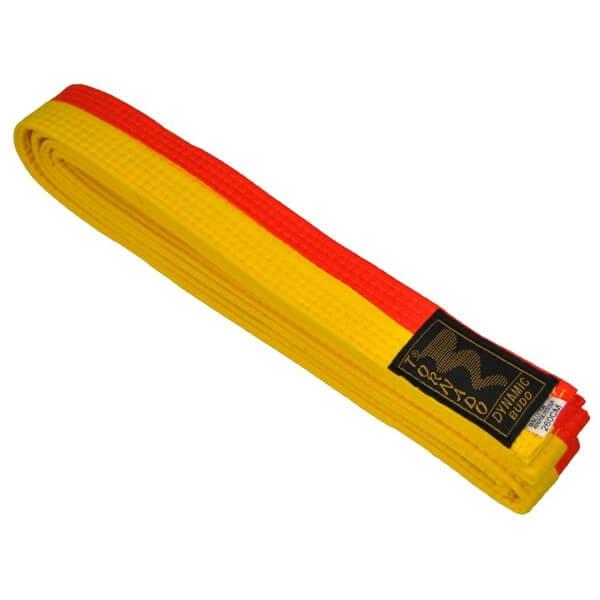Budogürtel gelb-orange mittig geteilt 220 cm