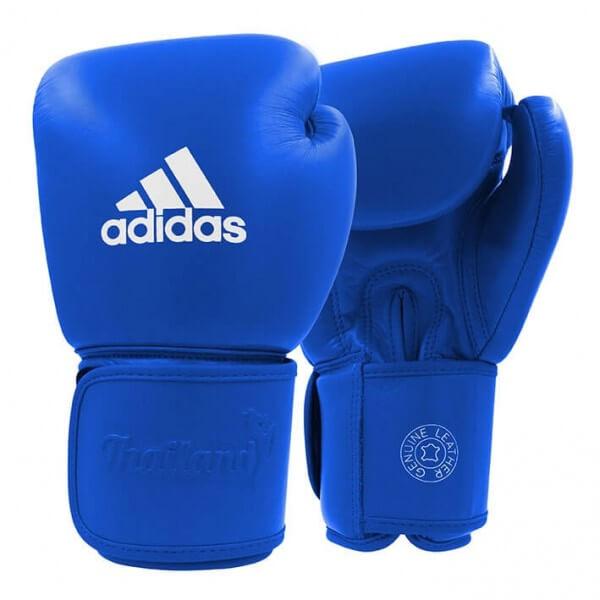 ADIDAS Muay Thai Boxhandschuhe Leder 200 blue