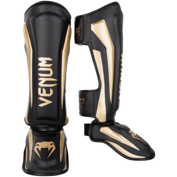 Venum Elite Standup Shinguards - Black/Gold M