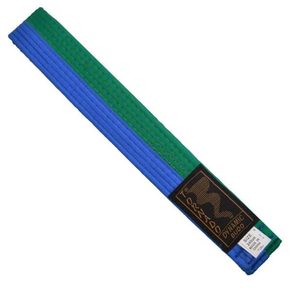Budogürtel grün-blau mittig geteilt, 260cm