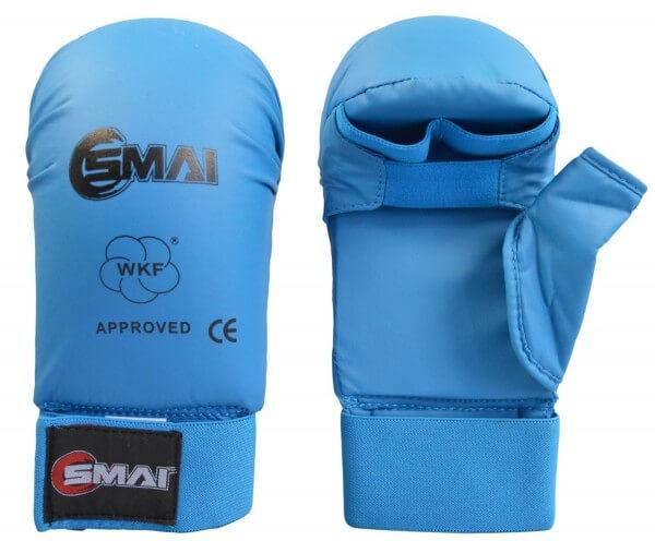 SMAI WKF- Kar-Handschutz m. Daumen blau Gr. S