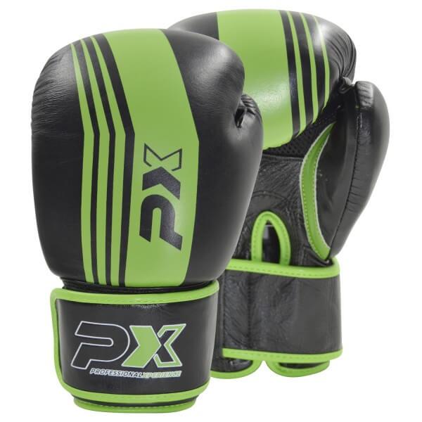 PX Boxhandschuhe schwarz-grün Leder 8oz