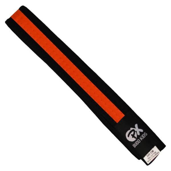 PX Budo Kids Softbelt, schwarz-orange, 200cm