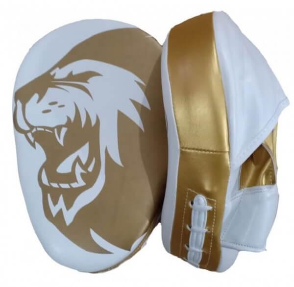 Super Pro Boxpratzen Set - Gold aus PU
