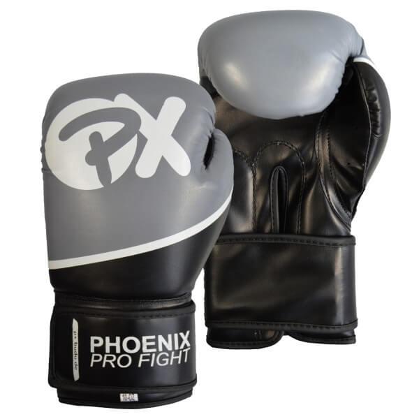 PX PRO FIGHT Boxhandschuhe PU schw-grau 8oz