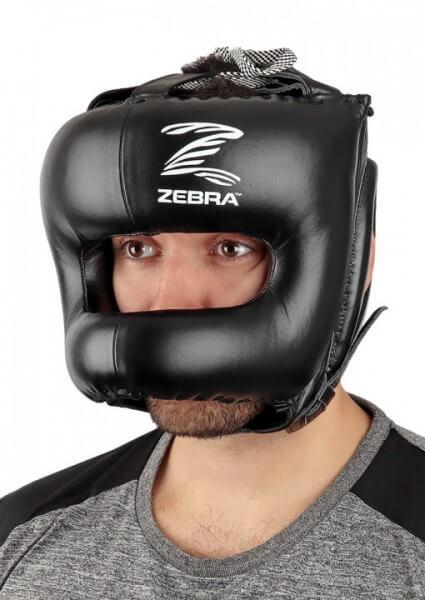 ZEBRA MMA Leder Kopfschutz Face Bar