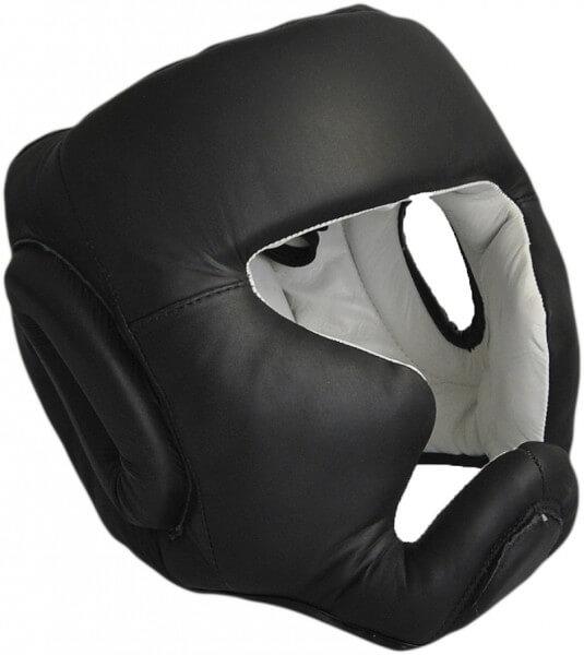 Kopfschutz Echtleder schwarz