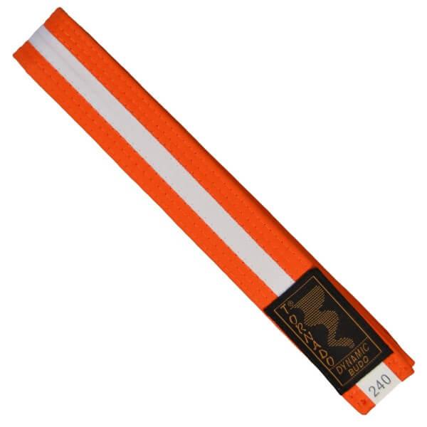 Budogürtel orange-weiß 220cm