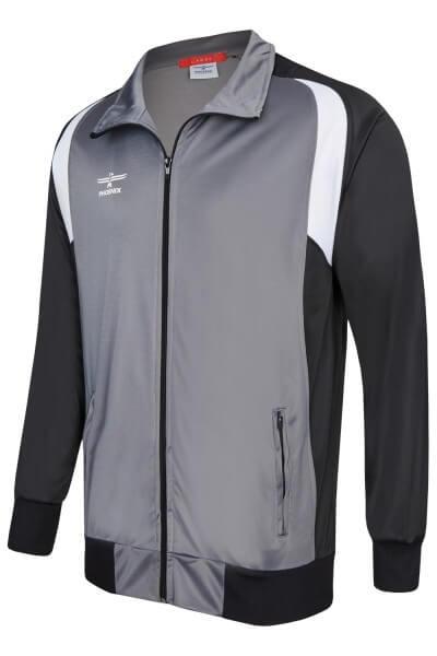 PHOENIX Trainingsanzug Jacke grau-schwarz 128