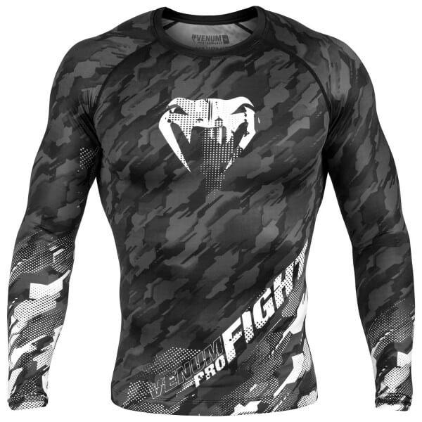 Venum Tecmo Rashguard - Long Sleeves - Dark Grey S