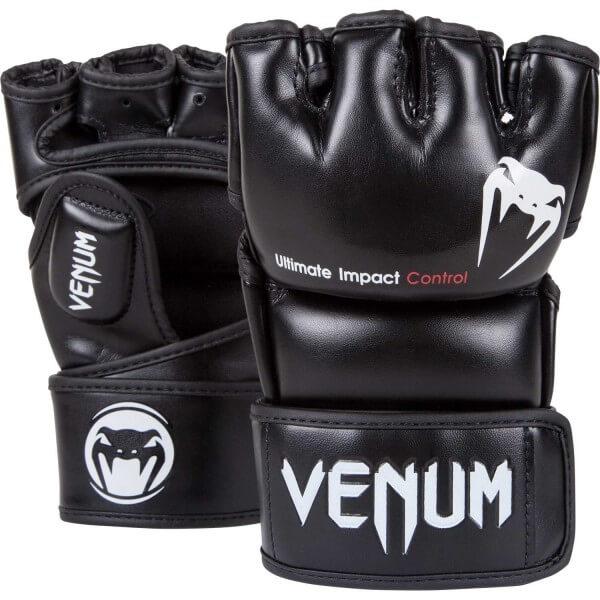 Venum Impact MMA Gloves - Black - Skintex S