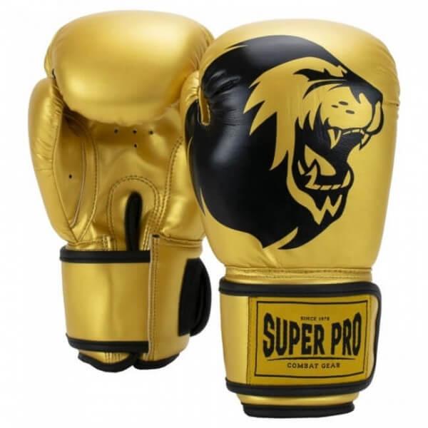 Super Pro Talent Kinder Boxhandschuhe gold/black 4oz