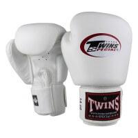 TWINS Boxhandschuhe Muay Thai Leder BGVL-3 White 10 Oz