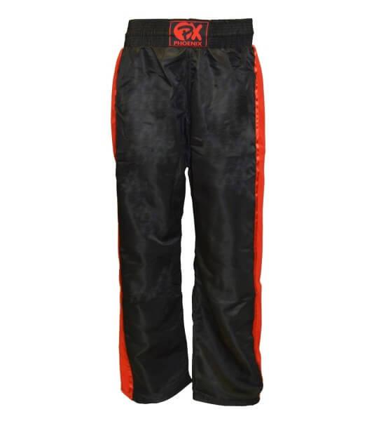 "PX Kickboxhose ""Dynamic"", schwarz-rot Mesh 100"