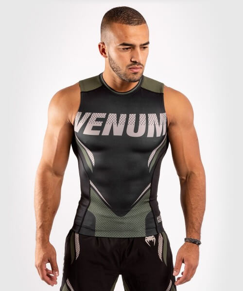 Venum ONE FC2 Rashguard Sleeveless Black / Khaki S