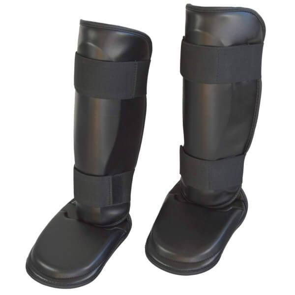 Schienbein- und Spannschutz PU schwarz, XS