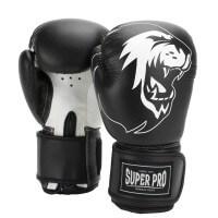 Super Pro Talent Kinder Boxhandschuhe black/white Schwarz/Weiß