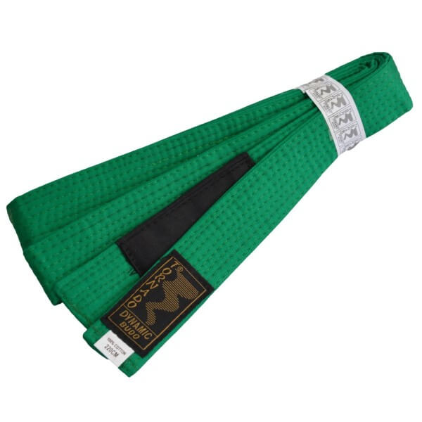 Kinder BJJ Gürtel grün m. Bar 220 cm