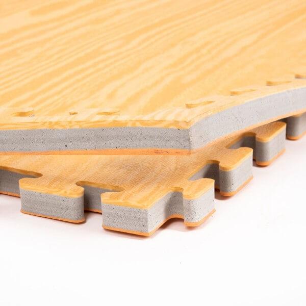 PRO FIGHT Kampfsportmatten 2,5 cm Holz-Sandoptik ca. 100x100x2,5cm