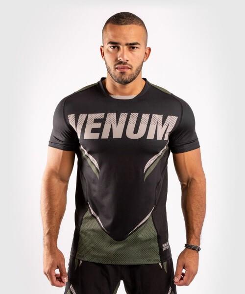 Venum ONE FC2 Dry Tech Shirt - Black/ Khaki S