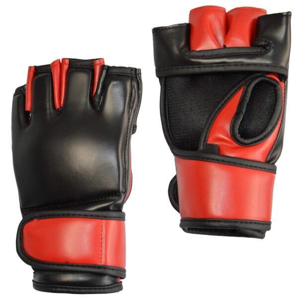 MMA-Handschutz PU schwarz-rot S