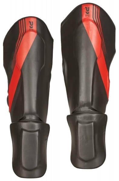 PX Schienbein-Spannschutz FIGHT PRO schwarz-rot