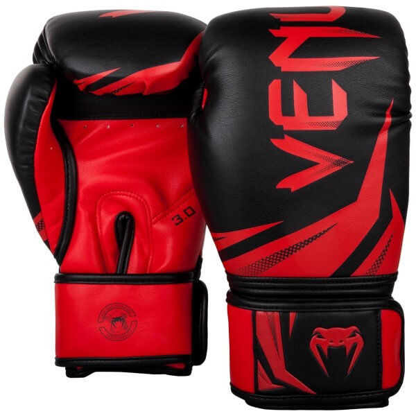 Venum Challenger 3.0 Gloves - Black/Red 10oz