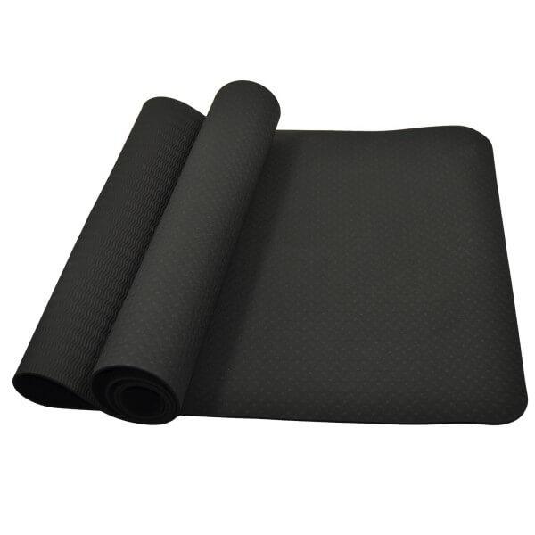 Yoga & Fitness Matte schwarz 183 x 61 x 0,4cm
