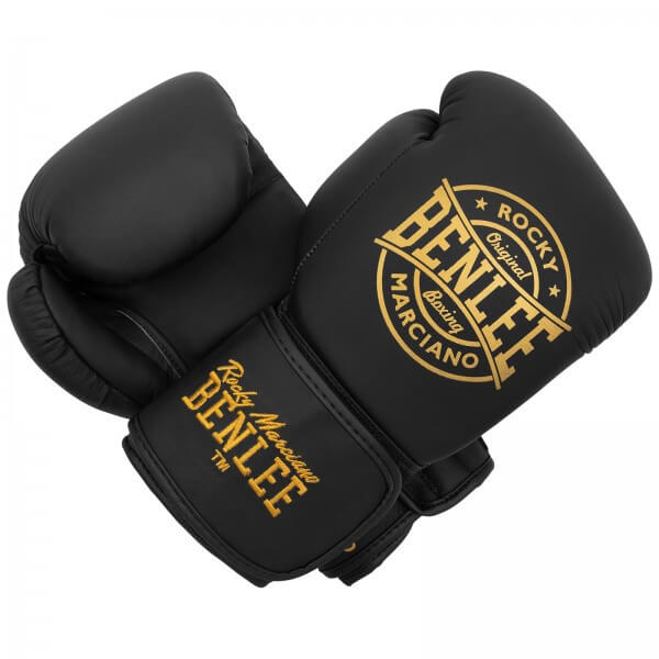 BENLEE Leder Boxhandschuhe Wakefield Black / Gold