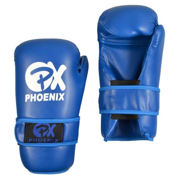 Semikontakt-Handschuhe Pointfighting Kickboxen Open Hands blau