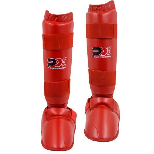 Karate Kumite Schienbein-Spannschutz rot