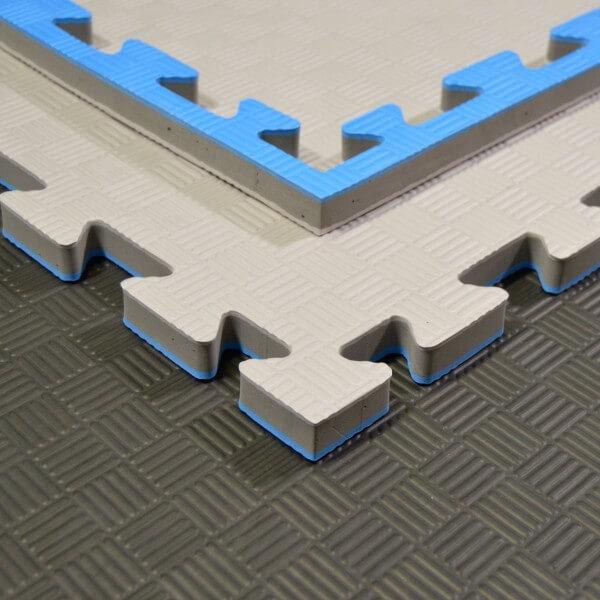 Kampfsportmatten grau/ blau 100x100x2cm