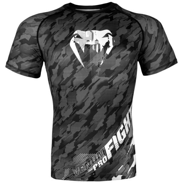 Venum Tecmo Rashguard Short Sleeves- Dark Grey S