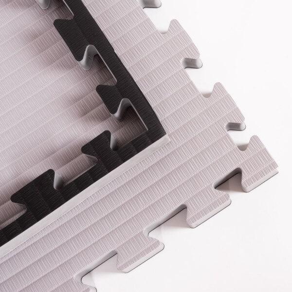PRO FIGHT Kampfsportmatten 4 cm grau-schwarz, 100x100x4 cm