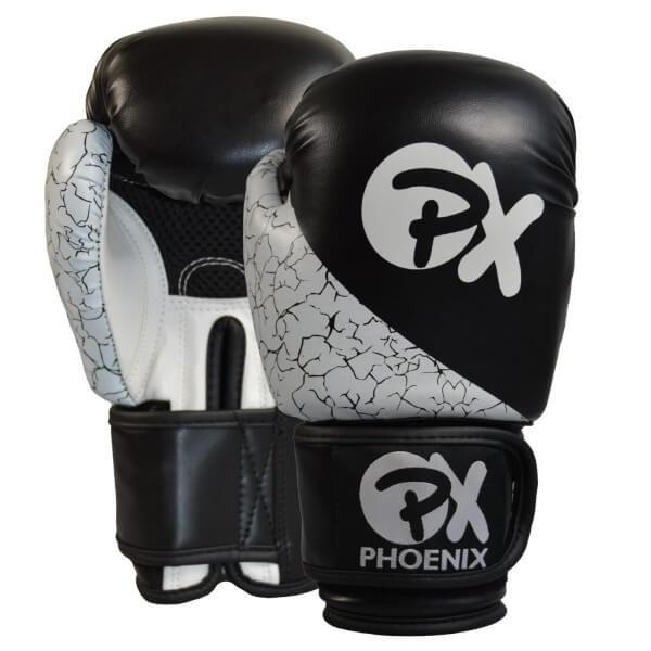PX Boxhandschuhe STRIKE, PU schwarz-weiß, 8oz