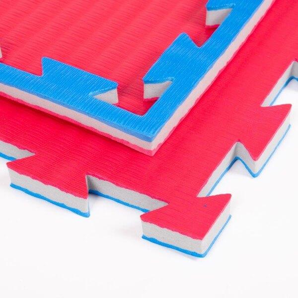 PRO FIGHT Kampfsportmatten blau-rot ca. 100x100x2cm