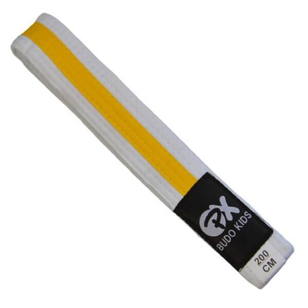 PX Budo Kids Softbelt, weiß-gelb, 200cm