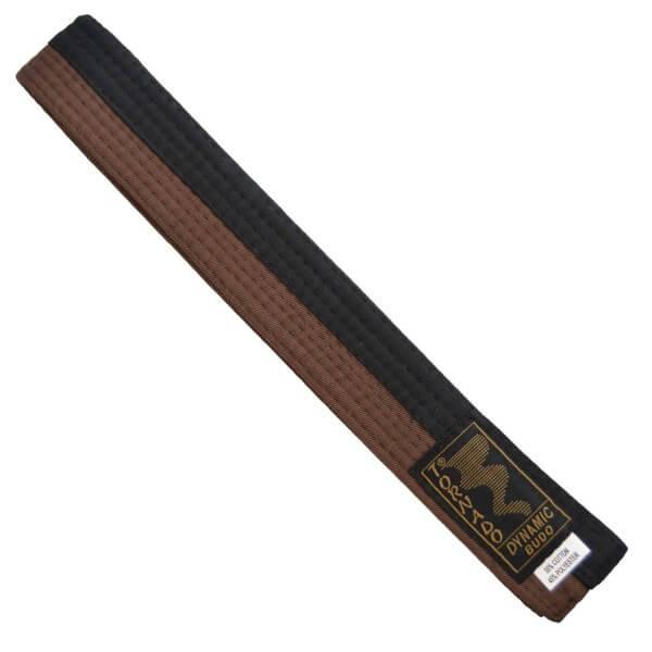 Budogürtel braun-schwarz mittig geteilt, 260cm