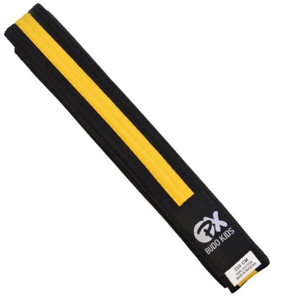 PX Budo Kids Softbelt, schwarz-gelb, 200cm