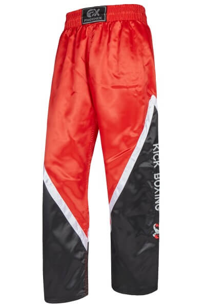 BUDO''s FINEST Kickboxhose schwarz-rot-weiss Gr 140